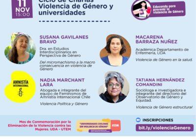 Ciclo de charlas sobre violencia de género en la universidades