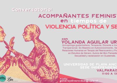 Conversatorio: Acompañantes feministas en tiempos de violencia política y sexual