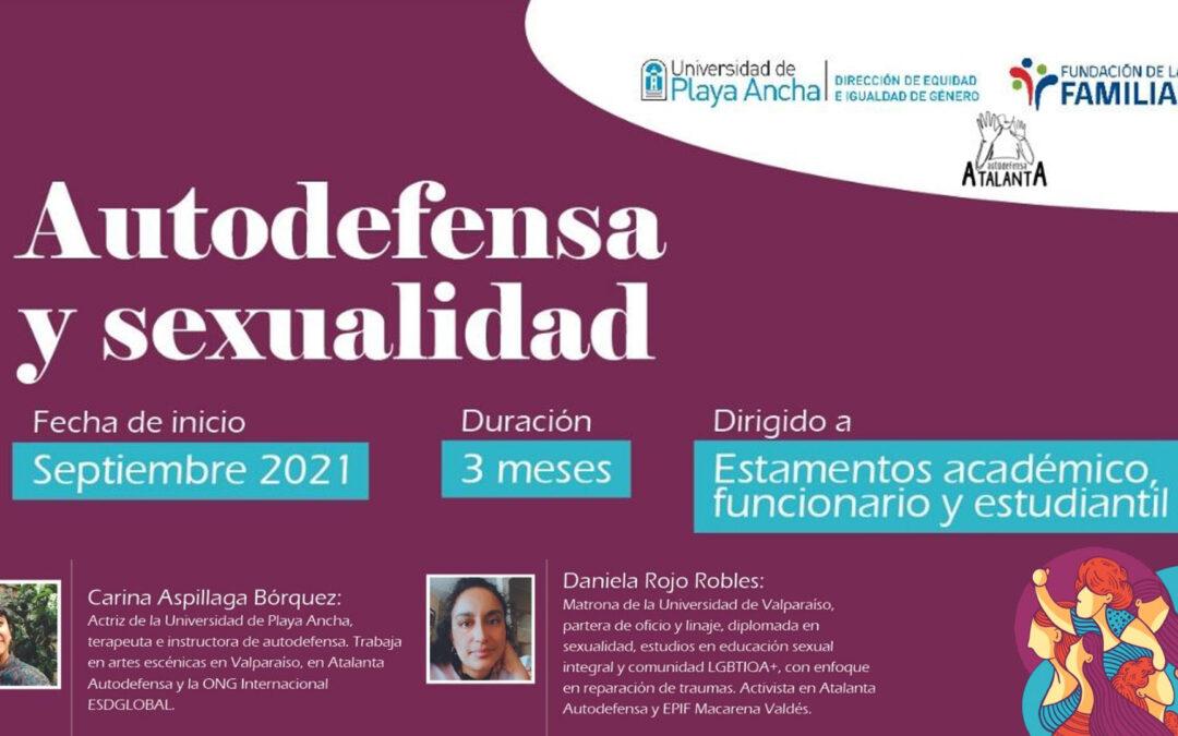 Te invitamos a participar en el taller teórico-práctico: «Autodefensa y Sexualidad»