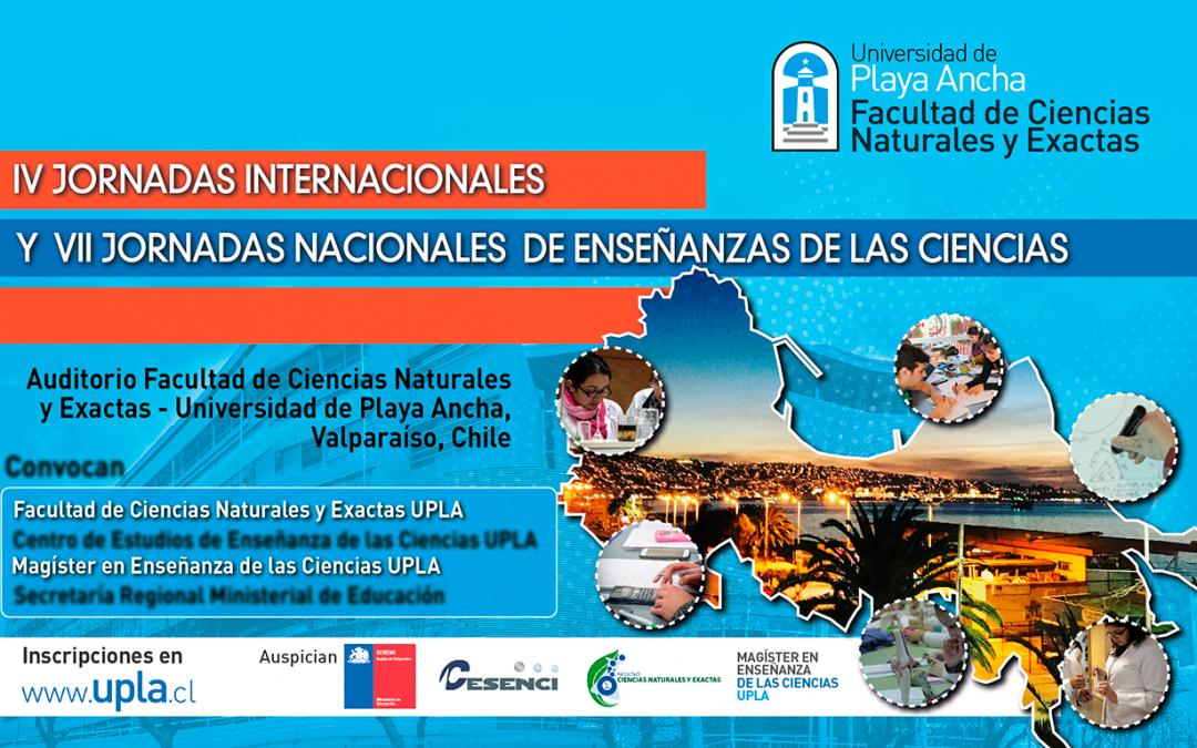 Convocan a las IV Jornadas Internacionales y VII Jornadas Nacionales de Enseñanza de las Ciencias